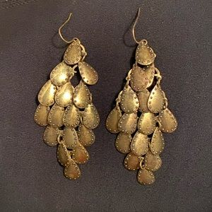 Bronze chandelier earrings